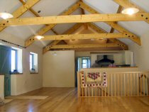 Barn conversion by T W McCarten & Son at Lower Tregeen, Cornwall